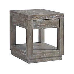 Modus Furniture Craster Herringbone Reclaimed End Table in Rustic