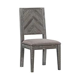 Modus Herringbone Upholstered Dining Chair in Rustic