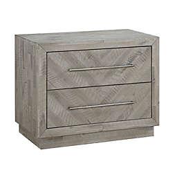 Modus Furniture Alexandra Solid Wood Nightstand in Latte