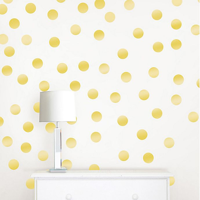 Alternate image 1 for WallPops!® Metallic Gold Confetti Dots Wall Decals