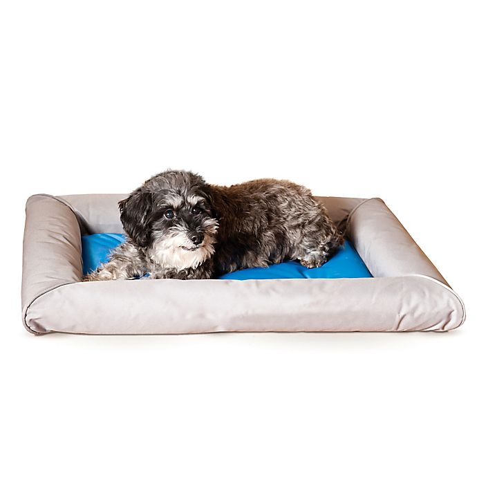 Alternate image 1 for Medium Cool Bed Deluxe™ Pet Bed in Grey/Blue