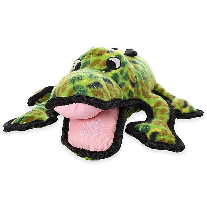 Tuffy® Alligator Durable Squeaky Soft Dog Toy in Green