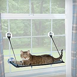 Kitty Sill EZ Window Mount Window Sleeper in Grey/Black