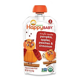 Happy Baby™ 3.5 oz. Stage 2 Organic Baby Food with Pumpkin, Apple, Peach & Cinnamon