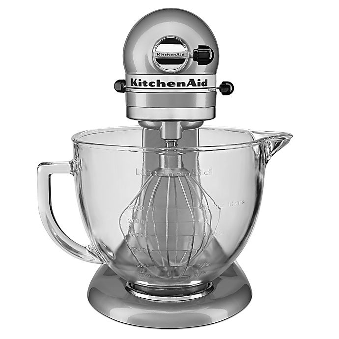 Alternate image 1 for KitchenAid® 5 qt. Stand Mixer with Glass Bowl