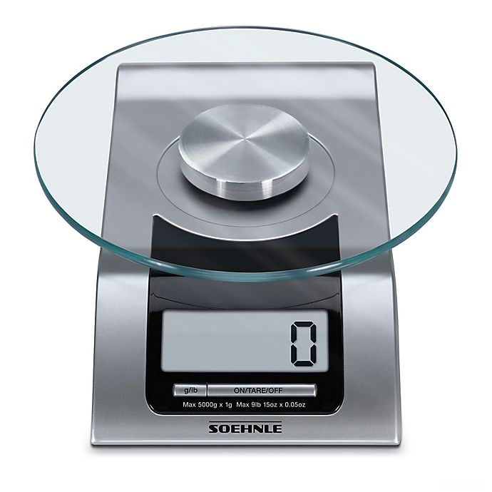 Alternate image 1 for Soehnle STYLE Precision Digital Food Scale in Silver