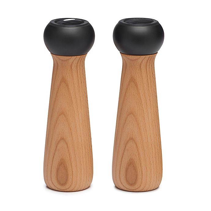 Alternate image 1 for OXO Good Grips® Lily 8-Inch Salt and Pepper Mills in Natural Wood