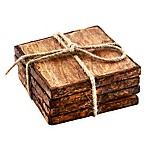Thirstystone® Square Mango Wood Bark Coasters (Set of 4)