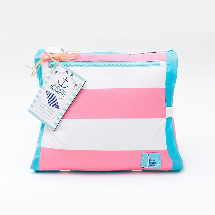Alternate image 1 for Buggygear™ 5-Foot x 7-Foot Waterproof Brilliant Blanket™ in Cabana Pink