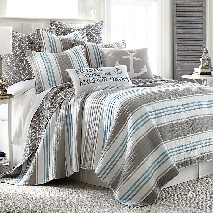 Provincetown Pillow Sham In Grey Bed Bath Beyond