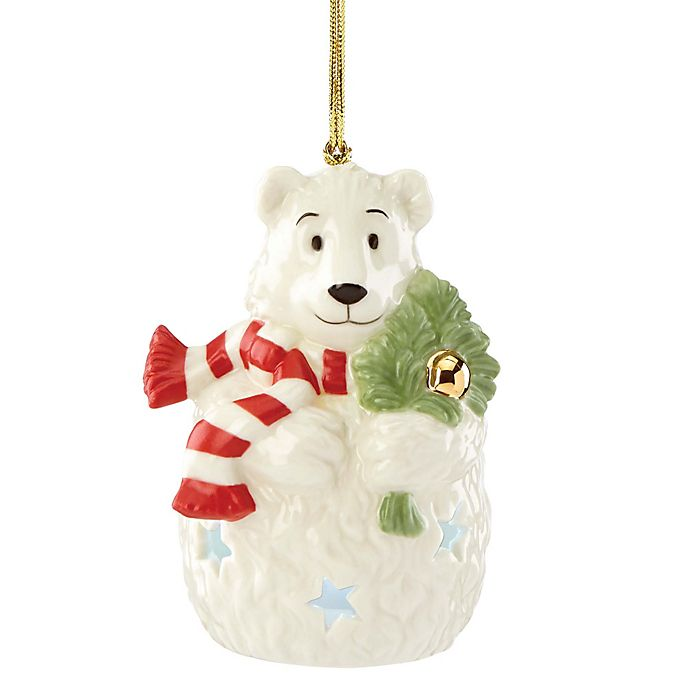 Lenox 174 Lit Color Changing Polar Bear Ornament Bed Bath