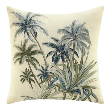 Tommy Bahama 174 Serenity Palms Square Throw Pillow Bed