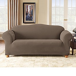 Sure Fit® Stretch Pixel Corduroy 1-Piece Sofa Slipcover