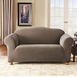 Sure Fit® Stretch Pixel Corduroy 1-Piece Loveseat Slipcover