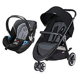 CYBEX Agis M-Air3/Aton 2 Travel System in Moon Dust