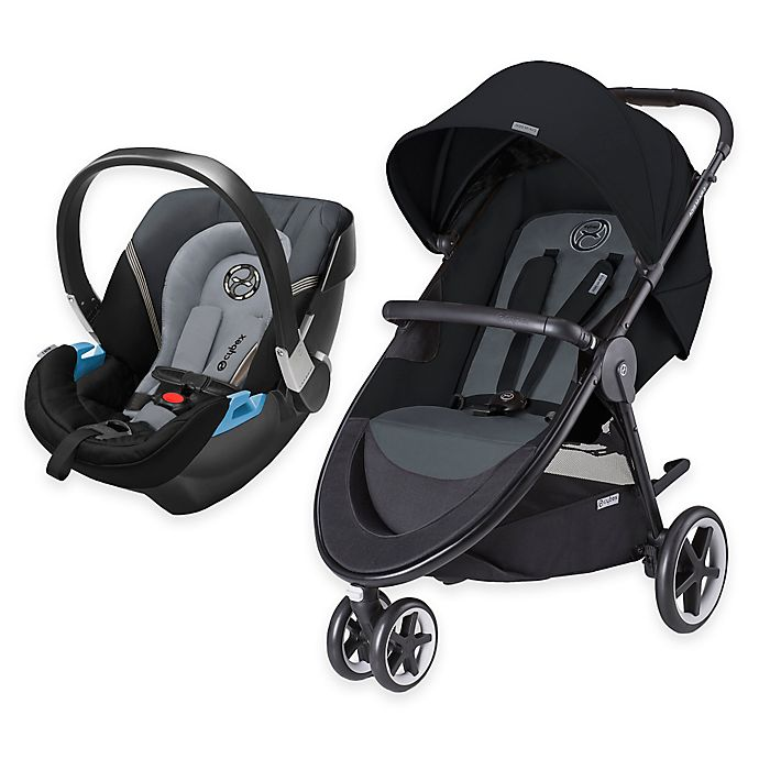 Alternate image 1 for CYBEX Agis M-Air3/Aton 2 Travel System in Moon Dust