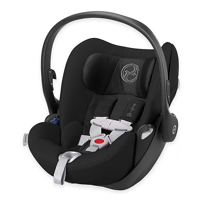 Alternate image 1 for Cybex Platinum Cloud Q Infant Car Seat with Load Leg Base in Black Beauty