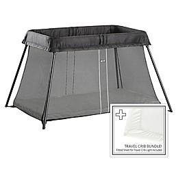 BABYBJORN® Travel Crib Light Bundle in Black