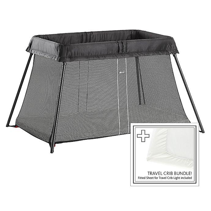Alternate image 1 for BABYBJORN® Travel Crib Light Bundle in Black