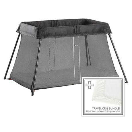 Babybjorn 174 Travel Crib Light Bundle In Black Buybuy Baby