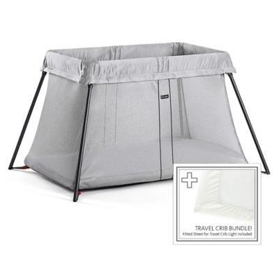 Babybjorn 174 Travel Crib Light Bundle In Silver Buybuy Baby