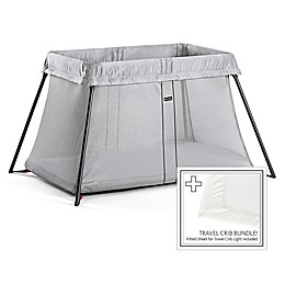 BABYBJORN® Travel Crib Light Bundle in Silver