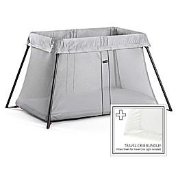 BABYBJORN® Travel Crib Light Bundle in Silver