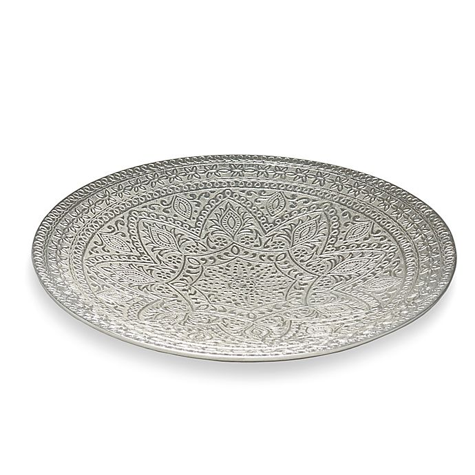 Alternate image 1 for Simplydesignz Raj 16-Inch Platter in Nickel