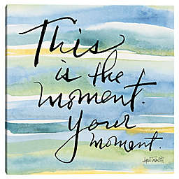 """This Is the Moment"" Typography Canvas Wall Art"