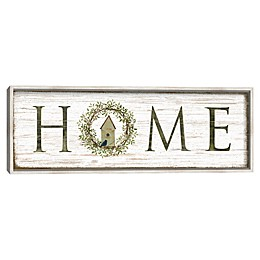 Home Panel 12-Inch x 36-Inch Framed Canvas Wall Art