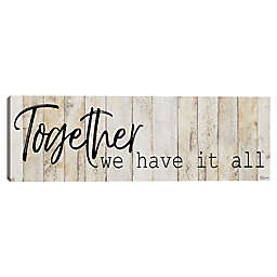 Together 12-Inch x 36-Inch Canvas Wall Art