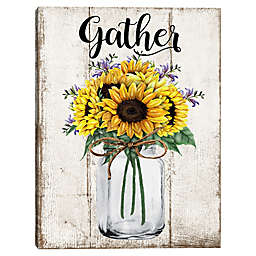 Gather Sunflowers Typography Wall Art