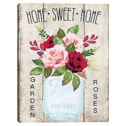 Home Sweet Home Jar Canvas Wall Art