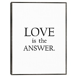 Masterpiece Art Gallery Love is the Answer 18-Inch x 24-Inch Wall Art in White