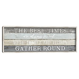 Best Times 12-Inch x 36-Inch Canvas Wall Art