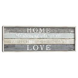 Home Love Framed Canvas Wall Art