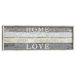 Home Love 36-Inch x 12-Inch Framed Canvas Wall Art