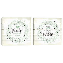 Masterpiece Art Gallery 2 Piece Family and Home Canvas Wall Art Set in Cream