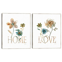 Simple Home and Simple Love 2-Piece Canvas Wall Art Set