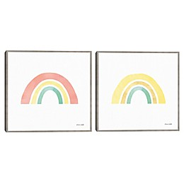 Pastel Rainbow Framed Wall Art (Set of 2)