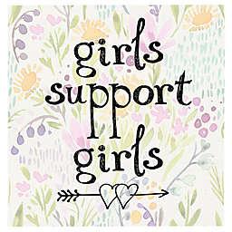 Masterpiece Art Gallery Girls Support Girls 2 20-Inch x 20-Inch Canvas Wall Art