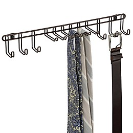 InterDesign® Classico 12-Hook Wall-Mount Tie/Belt Rack