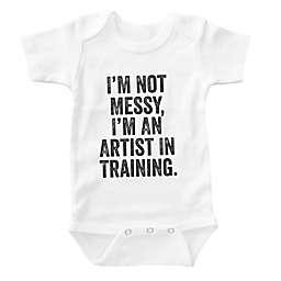 "Posh365 ""Artist in Training"" Bodysuit in White"