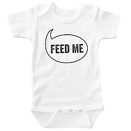 "Posh365 ""Feed Me"" Bodysuit in White"