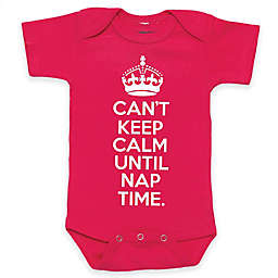 "Posh365 ""Can't Keep Calm Until Nap Time."" Bodysuit in Pink"
