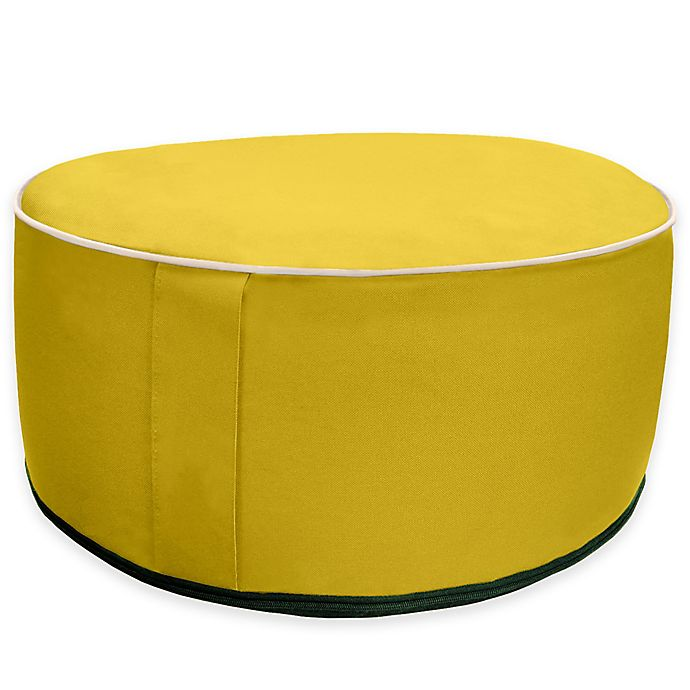 Alternate image 1 for Splash 'n Dash Inflatable Pouf Ottoman in Yellow
