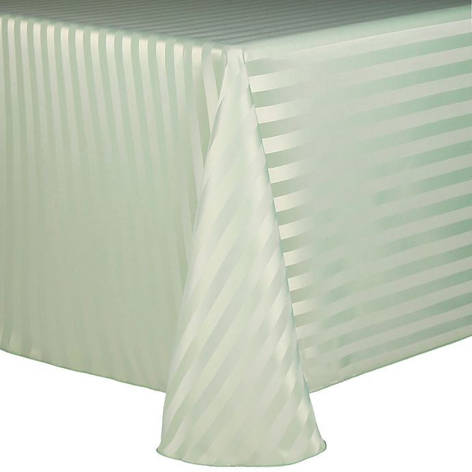Alternate image 1 for Poly Stripe Tablecloth