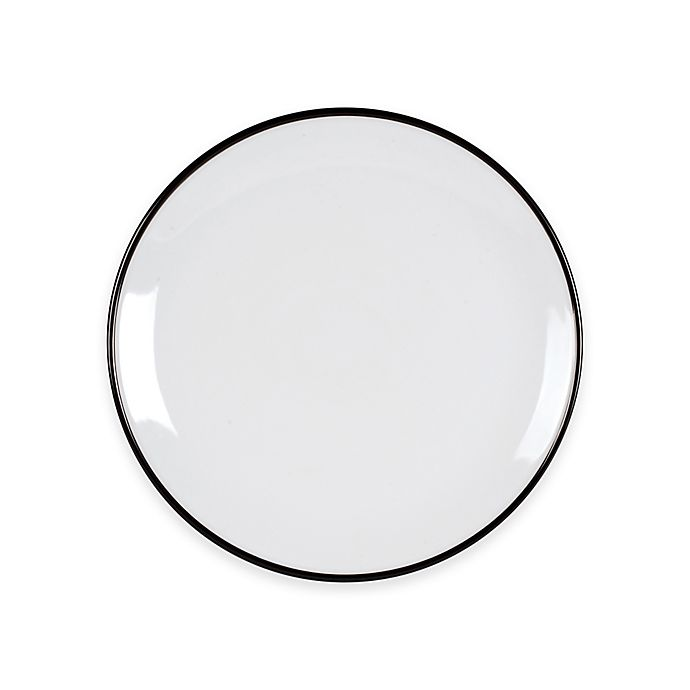 Alternate image 1 for Everyday White®  by Fitz and Floyd® Black Rim Dinner Plate