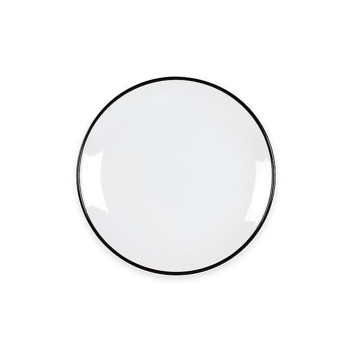 Alternate image 1 for Everyday White®  by Fitz and Floyd® Black Rim Salad Plate