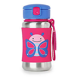 SKIP*HOP® Zoo 12 oz. Stainless Steel Butterfly Straw Bottle